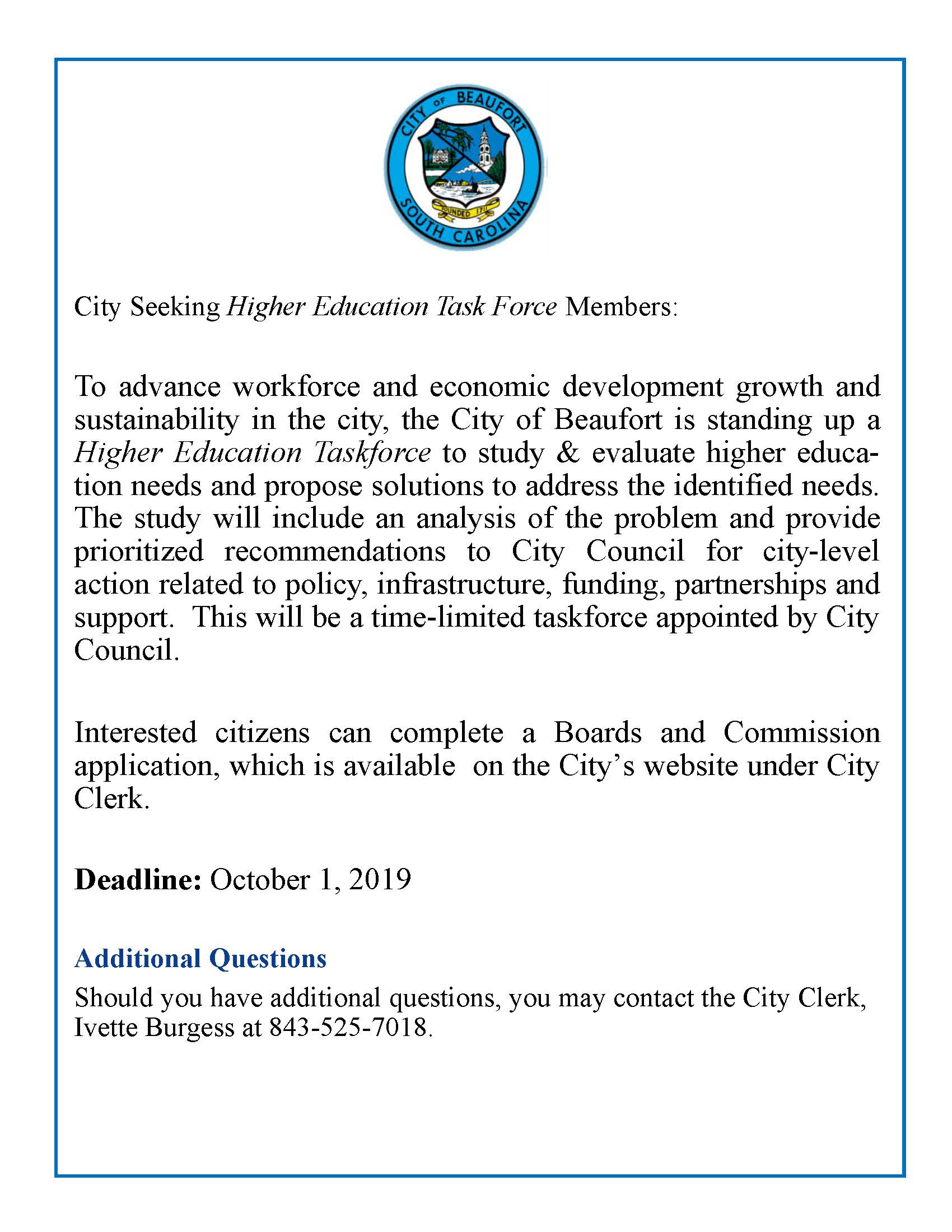 higher education task notice